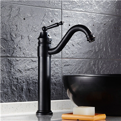 Venice Single Handle Deck Mount Bathroom Sink Faucet