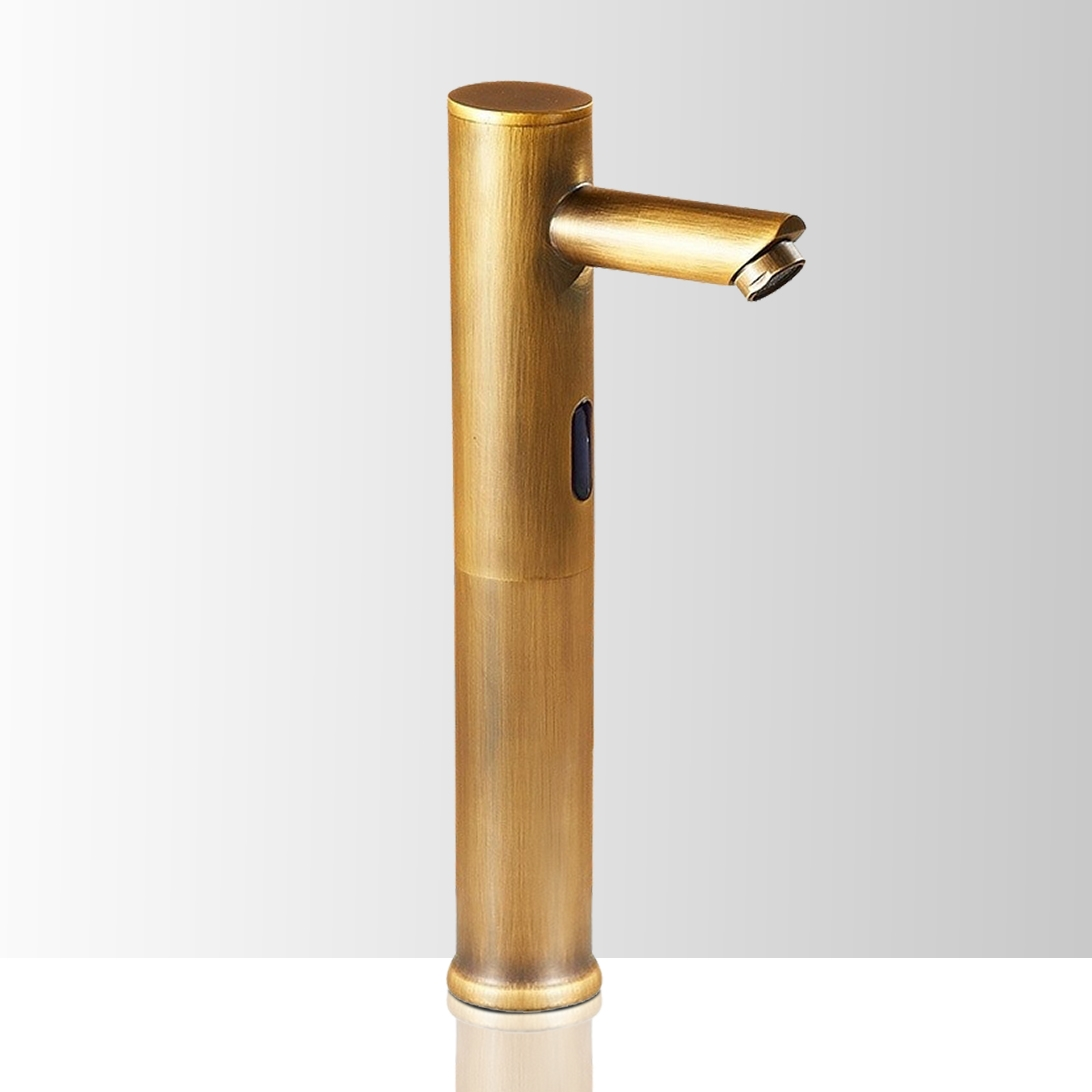Picture of: On Sale Now Large Selection Dodona Antique Brass Finish Commercial Automatic Sensor Faucet At Bathselect