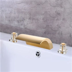 Paris Dual Handle Deck Mount Bathroom Sink Faucet