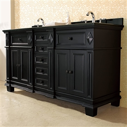 Milan Bathroom Vanity Set with Black Granite Vanity Top & White Basin