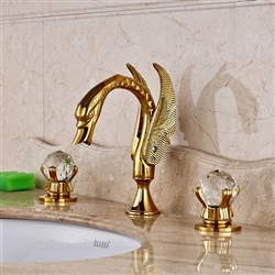 Rouen Deck-Mounted Dual Handle Bathroom Sink Faucet