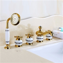 Villeurbanne 5 Piece Deck Mounted Bathtub Faucet
