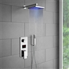 Florence LED Rainfall Shower Set with Handshower & Digital Mixer