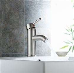 Genoa Brushed Nickel Bathroom Sink Faucet
