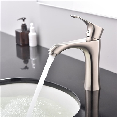 Monza Single Handle Bathroom Sink Faucet with Hot/Cold Mixer
