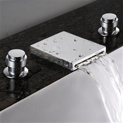 Chrome Widespread Sink Faucet