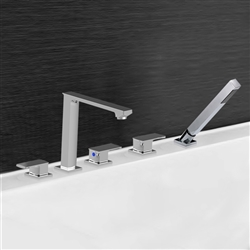 Marseille Triple Handle Solid Brass Bathroom Sink Faucet