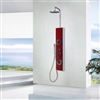 Venice Acrylic Shower Panel with Rain, Hand & Jet Shower Set