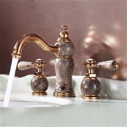 Saint-Denis Dual Handle Rose Gold Bathroom Sink Faucet
