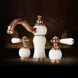 Tours WideSpread Rose Gold Bathroom Sink Faucet