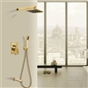 Naples Gold Wall Mount Rainfall Shower Set