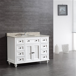 Catania Bathroom Vanity Set with Tiger Granite Countertop & Sink