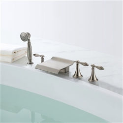 Amiens Triple Handle Solid Brass Bathroom Sink Faucet