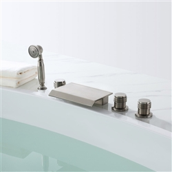 Colombes Triple Handle Solid Brass Bathroom Sink Faucet