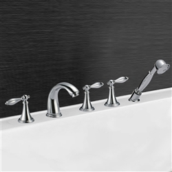 Calais Triple Handle Solid Brass Bathroom Sink Faucet