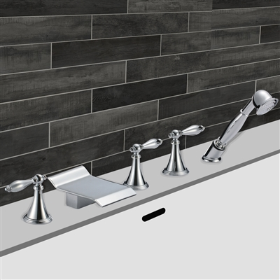 Dijon Triple Handle Solid Brass Bathroom Sink Faucet