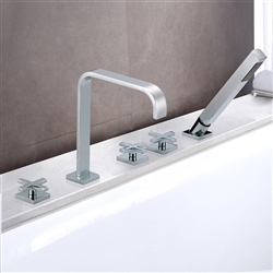Rennes Triple Handle Solid Brass Bathroom Sink Faucet