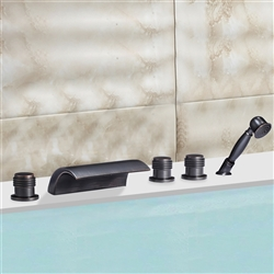 Metz Triple Handle Solid Brass Bathroom Sink Faucet