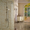 Naples Wall Mounted Brushed Nickel Shower Set with Hand Shower