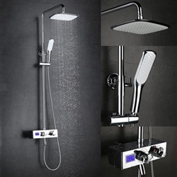 Rome Wall Mounted Chrome Shower Set with Digital Mixer
