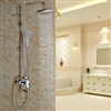 Genoa Wall Mounted Chrome Shower Set with Hand Shower and Faucet