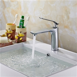Limoges Single Handle Deck-Mount Bathroom Sink Faucet