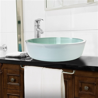 Milan Tempered Glass Vessel Bathroom Sink