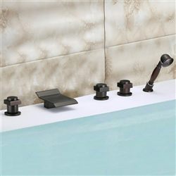 Genoa Triple Handle Solid Brass Bathroom Sink Faucet