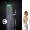 Venice Round Wall Mount Color Changing LED Rain Shower Head Set