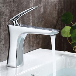 Rimini Single Handle Deck Mount Bathroom Sink Faucet