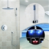 Florence LED Rain Shower System with Handheld Shower Head