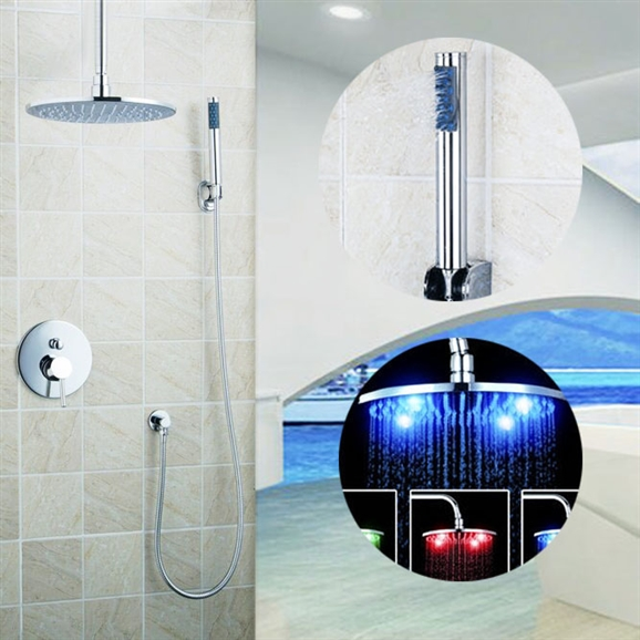 Florence Led Rain Shower System With Handheld Head