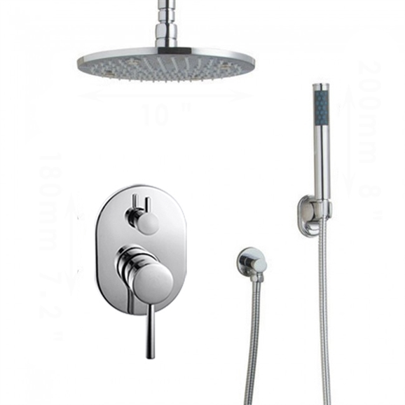Shop Florence Led Rain Shower System With Handheld Shower Head At Bathselect