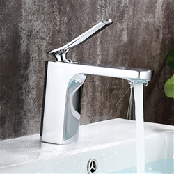 Bologna Single Handle Deck Mount Bathroom Sink Faucet