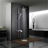 Poitiers Solid Brass Luxurious Exposed Chrome Bathroom Shower Set