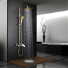 Versailles Solid Brass Luxurious Exposed Gold Bathroom Shower Set