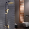 Avignon Solid Brass Luxurious Exposed Gold Bathroom Shower Set