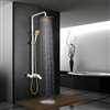 Saint-Denis Luxurious Exposed White and Gold Bathroom Shower Set