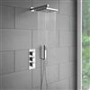 Le Havre Thermostatic Triple Handle Bathroom Shower Set