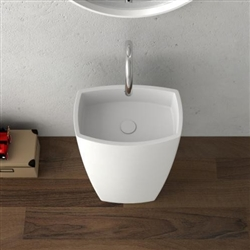 Roman Freestanding Oval Bathroom Sink