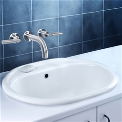Naples Brushed Nickel Dual Handle Bathroom Sink Faucet