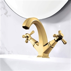 Nîmes Gold Finish Dual Handle Lavatory Sink Faucet