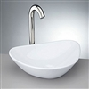 Lyon White Porcelain Bathroom Vessel Sink
