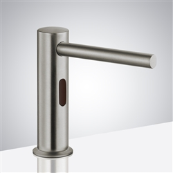 Boston Deck Mount Commercial Motion Sensor Soap Dispenser In Brushed Nickel Finish
