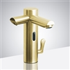Commercial Dual Sensor Faucet And Soap Dispenser In Brushed Gold Finish