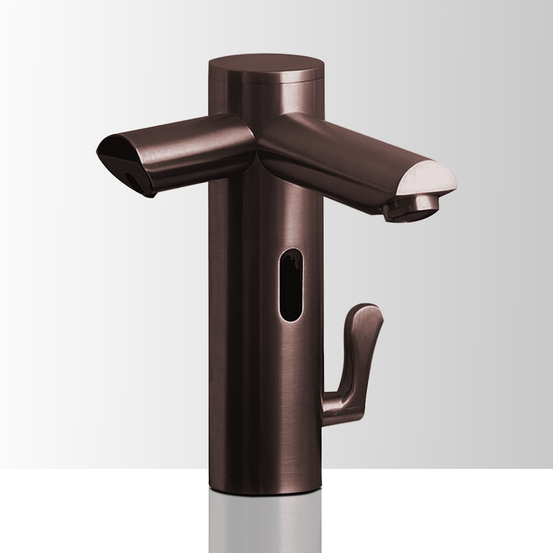 Wella Light Oil Rubbed Bronze Finish Dual Automatic Commercial Sensor Faucet And Soap Dispenser