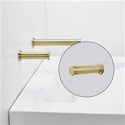 Luna Brushed Gold Finish Commercial Dual Sensor Faucet And Soap Dispenser