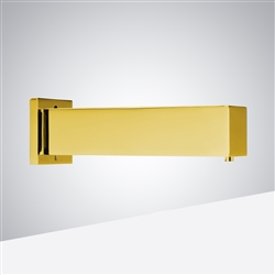 BathSelect Shiny Gold Finish Commercial Wall Mount Square Shaped Sensor Soap Dispenser