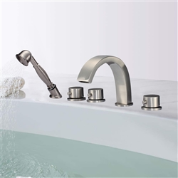 Lyon Triple Handle Solid Brass Bathroom Sink Faucet