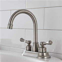 Lyon Dual Handle Solid Brass Bathroom Sink Faucet